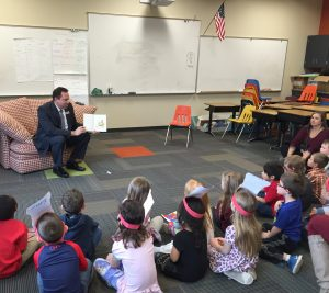 DrHalupnik Reading to Students