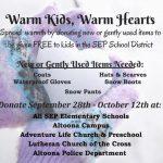 Warm Kids Warm Hearts Coat Drive 120324058 3340857986000237 4032444736669930056 n