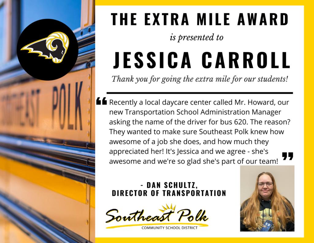 Jessica Carroll Extra Mile
